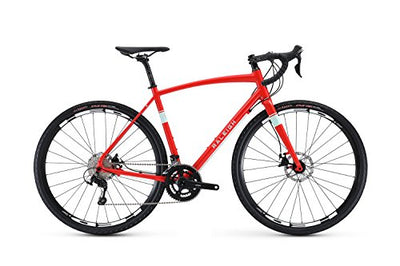 Raleigh Bikes Willard 4 Adventure Road Bike 56cm Frame, Red, 56cm/Large