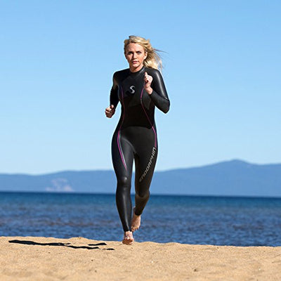 Triathlon Wetsuit 5/3mm - Women's Synergy Endorphin Fullsleeve Smoothskin Neoprene for Open Water Swimming Ironman Approved