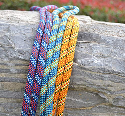 Climbing Rope High Strength Rappelling Abseiling Accessory Rope Cord With Carabi