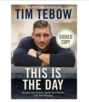 Autographed/Signed by Tim Tebow This Is The Day Hardcover Book