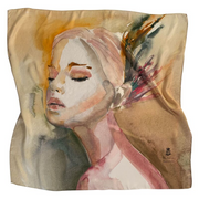 Silk Scarf: She Who Whispered Wild