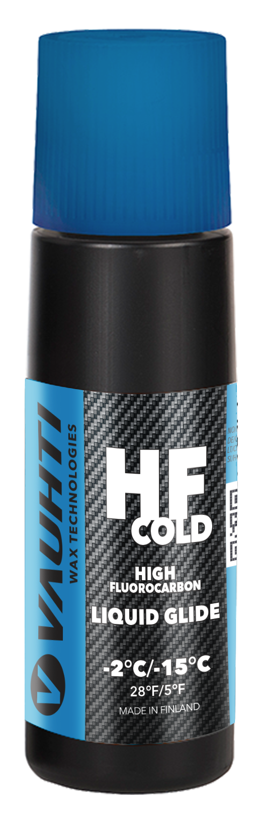 A racing liquid glide wax for cold snow.