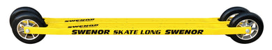 An aluminium skate rollerski with a longer shaft for a better balance point.