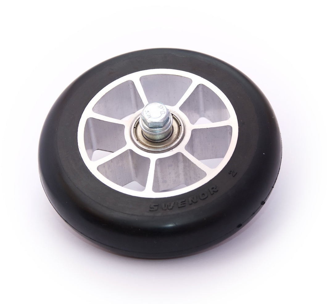 Replacement skate rollerski wheels pre-assembled with bearings.