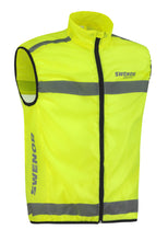Load image into Gallery viewer, A high-visibility vest for workouts around traffic.