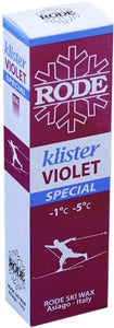 A tacky klister for icy, hard-packed snow