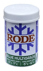 Rode Blue Multigrade an all-time favorite kick wax for colder snow