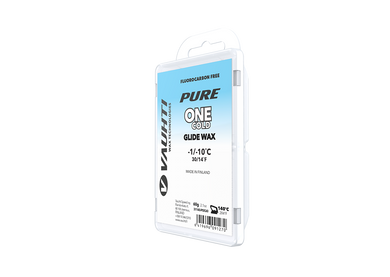 From the Vauhti Fluoro-free PURE line. PURE-LINE ONE COLD PARAFFIN An entry-level fluoro-free paraffin for cold conditions.