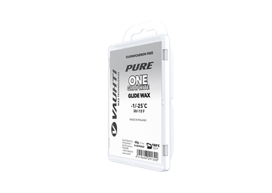 From the Vauhti Fluoro-free PURE line. PURE-LINE ONE GRAPHITE PARAFFIN An entry-level fluoro-free paraffin for dirty snow.