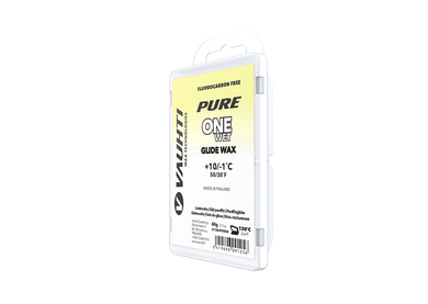 From the Vauhti Fluoro-free PURE line. PURE-LINE ONE WET PARAFFIN An entry-level fluoro-free paraffin for warm conditions.