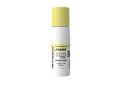 From the Vauhti Fluoro-free PURE line. PURE-LINE ONE WET LIQUID GLIDE An entry-level fluoro-free paraffin for warm conditions.