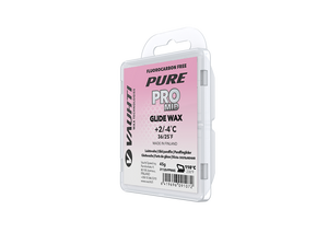 From the Vauhti Fluoro-free PURE line. PURE-LINE PRO MID PARAFFIN A high-performance fluoro-free racing paraffin for med conditions.