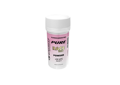 From the Vauhti Fluoro-free PURE line. PURE-LINE RACE MID POWDER A high-performance fluoro-free racing powder for med conditions.