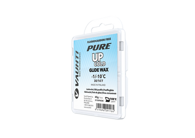 From the Vauhti Fluoro-free PURE line. PURE-LINE UP COLD PARAFFIN A performance fluoro-free paraffin for cold conditions.