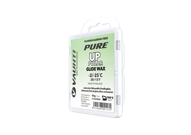 From the Vauhti Fluoro-free PURE line. PURE-LINE UP POLAR PARAFFIN A performance fluoro-free paraffin for very cold conditions.