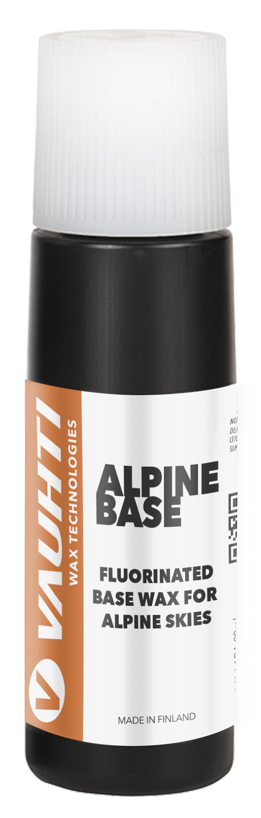A high-fluoro liquid base wax for alpine skiing and snowboarding.