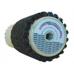 A combi roto brush - half horsehair and have nylon