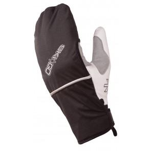 A unique glove with a retractable wind-proof cover