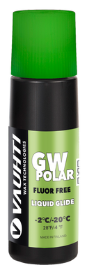 A non-fluorinated liquid glide wax for very cold snow.