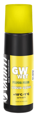 A non-fluorinated liquid glide wax for wet snow.