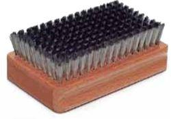 A steel brush with very fine bristles for cleaning and opening base structure.