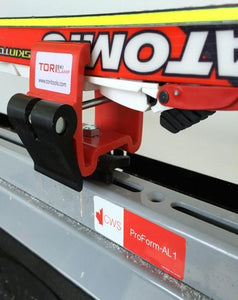 Tori Ski Tools Clamp attached to the CWS ProForm
