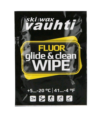 A single use wipes of Vauhti Clean & Glide