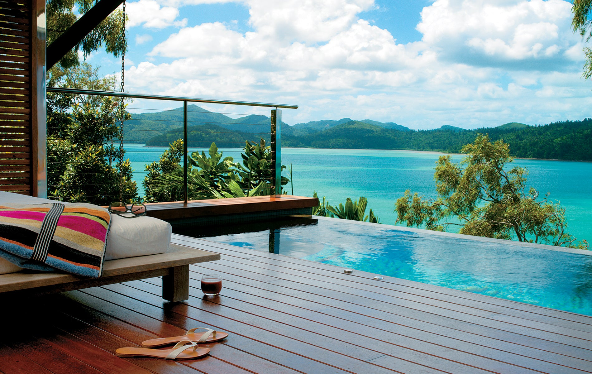Beautiful day bed and private pool at Quaila resort on Hamilton Island image credit qualia.com.au