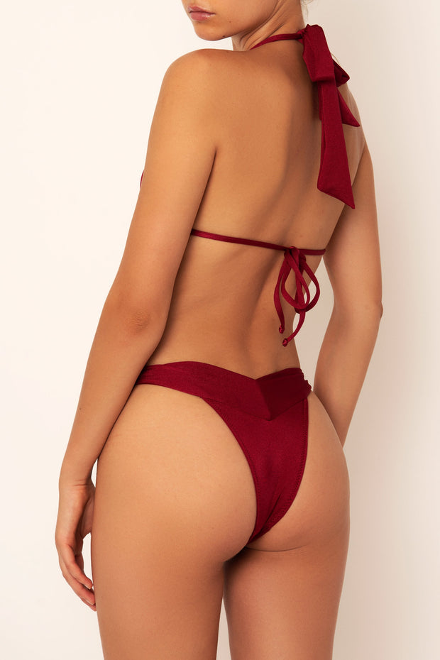 red knot bikini bottom back view
