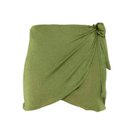 Salinas mini wrap skirt in Chartreuse