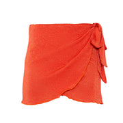 Salinas mini wrap skirt in Campari