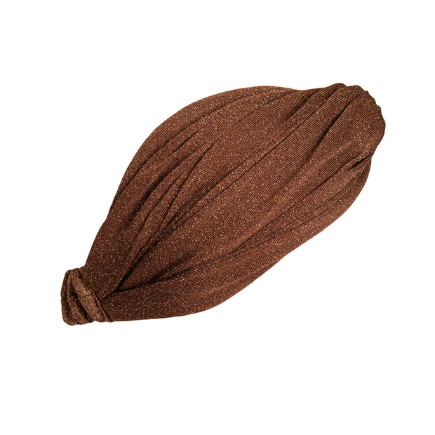 Nova Headband in Cinnamon from the side