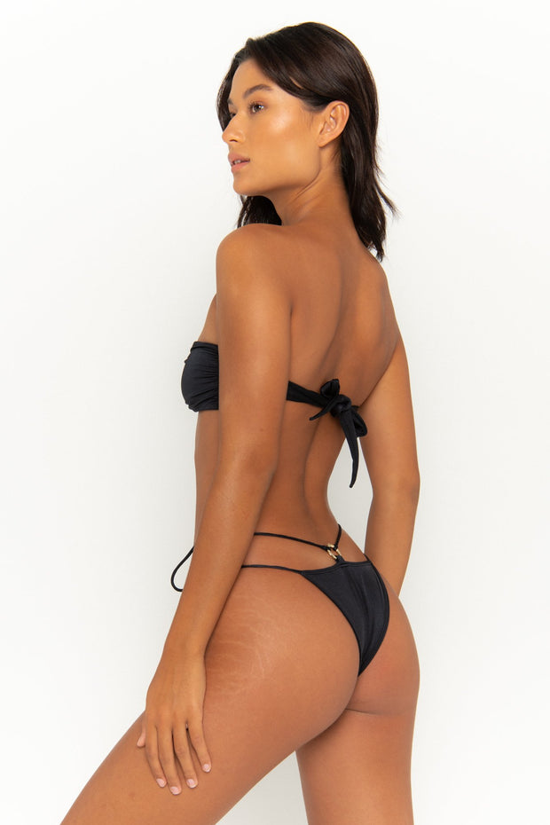 DULCE Nero - Tie Side Bikini Bottoms