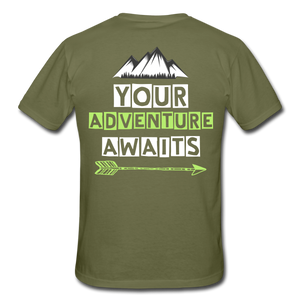 Adult - Your Adventure Awaits T Shirt with logo