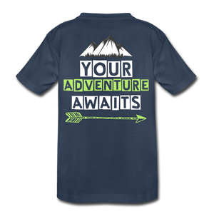 Child - Your Adventure Awaits T Shirt with logo