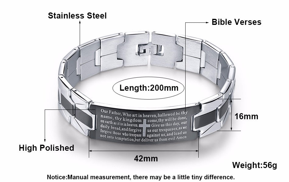 jewelry men products bracelet bangles image rock bracelets gagafeel product stainless cross steel