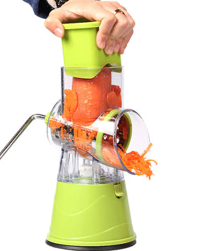 Vegetable hand-turn slicer