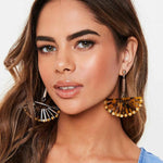 Fan Sunshine Earrings - Oh My Gawdess
