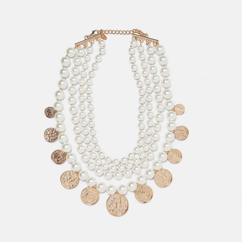 Dear Goddess Pearl Necklace - Oh My Gawdess