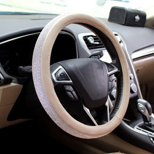 Tan Bling Steering Wheel Cover - Oh My Gawdess