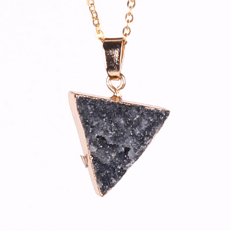 Sacred Triangle Natural  Quartz Crystal Pendant