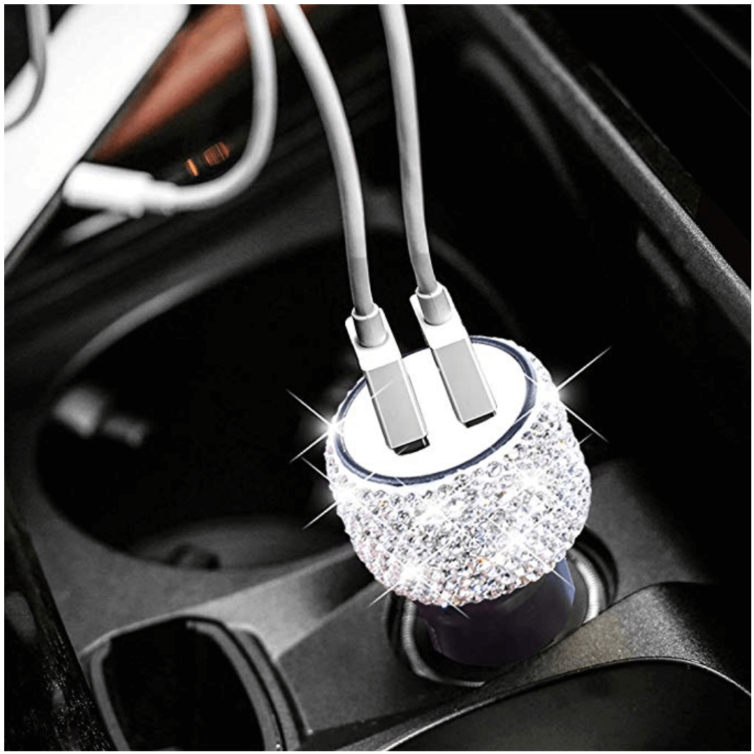 Bling Bling Dual USB Car Charger - Oh My Gawdess
