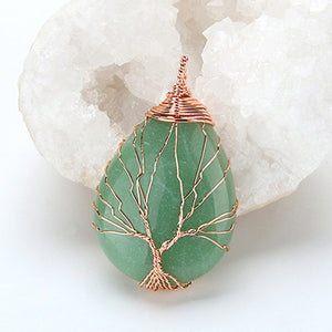 Tree of Life Quartz Pendant - Oh My Gawdess