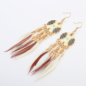 Tribal Spirit Tassel Earrings - Oh My Gawdess