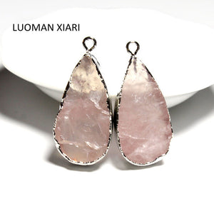 Serenity Natural Pink Quartz Pendant - Oh My Gawdess