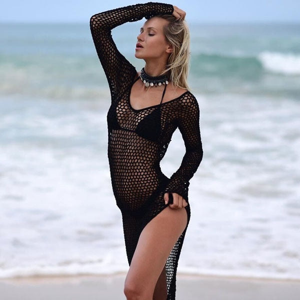Mesh Beach Cover-up - Oh My Gawdess