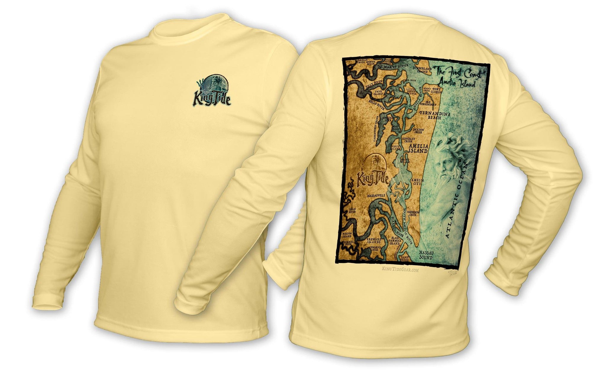King Tide Fernandina Florida Chart Shirt