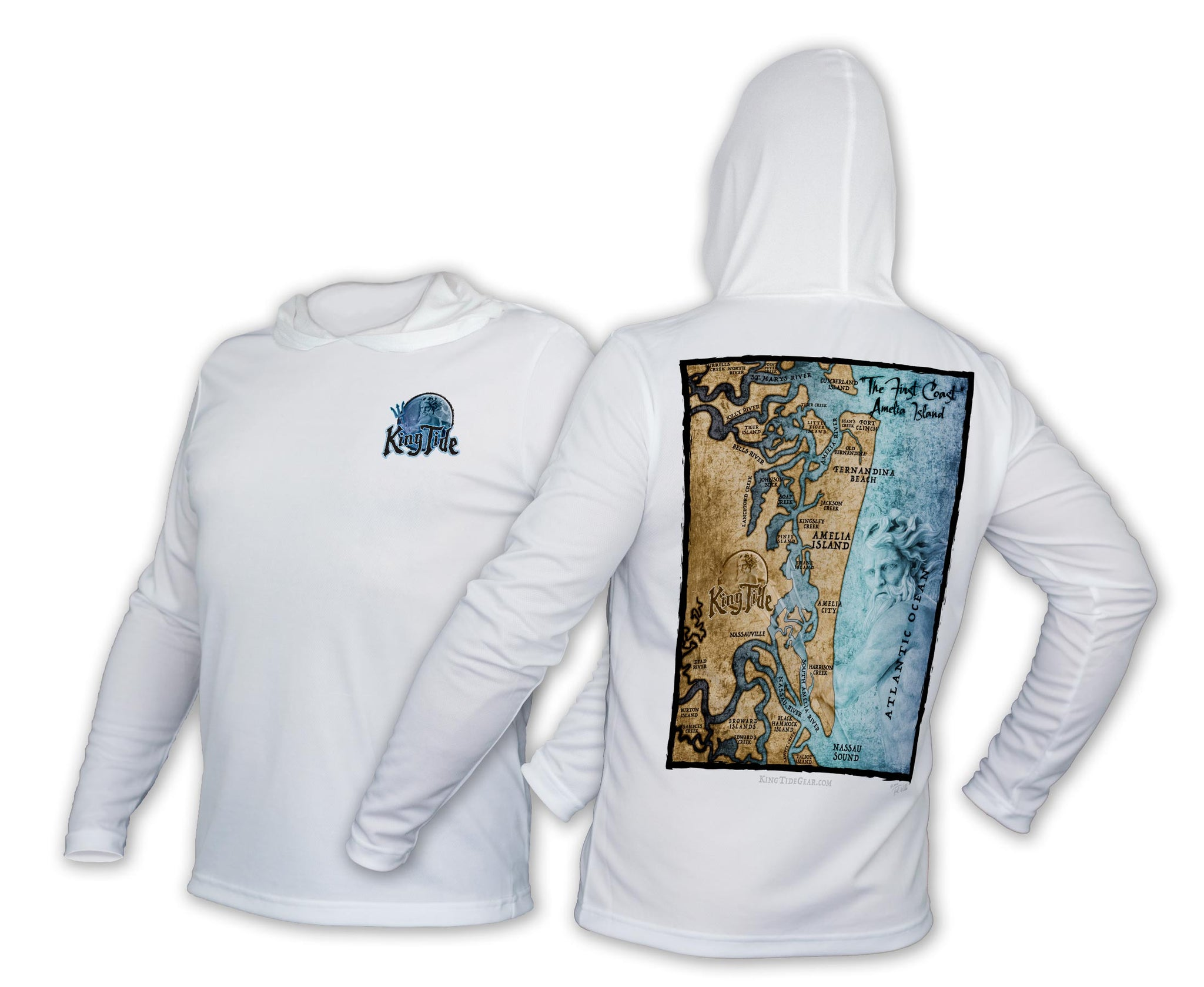King Tide Charleston, SC Chart Performance Hoodie