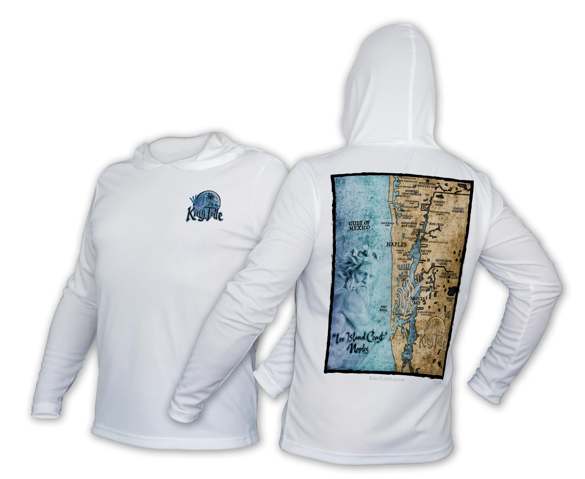 King Tide Naples Florida Chart Hoodie