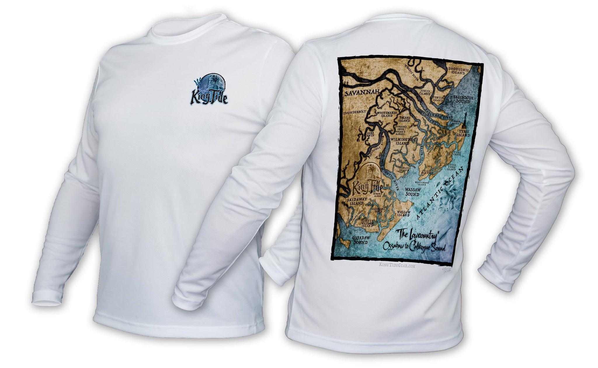 King Tide Savannah Georgia Chart Shirt